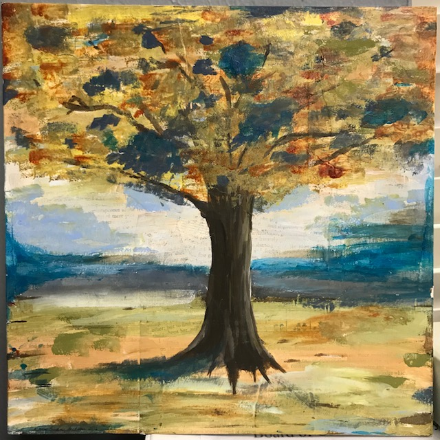 tree original mixed media erin sloan jackson